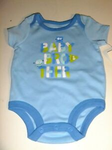 Infant Boy's BLUE Bodysuit Size 6-9 Months NWT BABY BROTHER