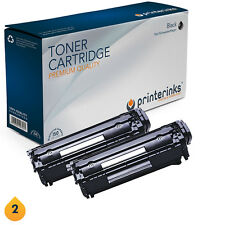 2 Non OEM 12A Q2612A Black Toner Cartridges LaserJet 1010 1015 3015 3030 3055