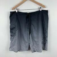 RipCurl Mens Board Shorts Size 40 Swim Shorts Black Grey Drawstring Side Pocket