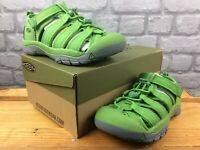KEEN UK 1 EU 34 NEWPORT H2 GREEN GREY SANDALS CHILDRENS BOYS GIRLS RRP £35 C
