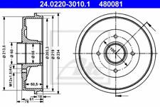 2x Bremstrommel für Bremsanlage Hinterachse ATE 24.0220-3010.1