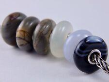 TROLLBEADS Striped Black Onyx BEAD #6 TSTBE-00006 RETIRED (ONE BEAD) NEW!