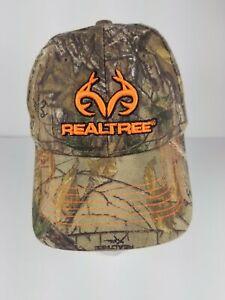 Realtree by Outdoor Cap Camo Hat Orange Contrast Adjustable