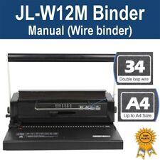 Brand New Office Wire Binder Binding Machine JL-M12W (34 Holes)