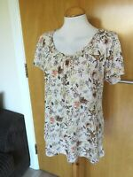 Ladies LAURA ASHLEY Top Size 14 Cream Stretch Smart Casual Day