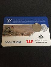 2016 Dogs At War Anzac Coin - Anzac To Afghanistan 20 Cents
