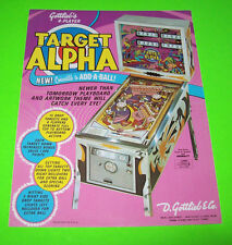 Gottlieb TARGET ALPHA Original 1976 Flipper Game Pinball Machine Promo Flyer