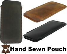HAND Sewn di durevole Vera Pelle Custodia Cover Sleeve Custodia per Telefoni Cellulari