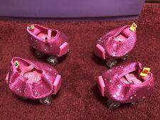 Build-A-Bear Pink Adjustable Roller Skates & Shoes 2 Sets