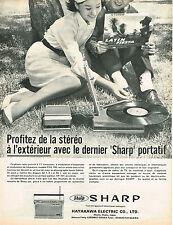PUBLICITE ADVERTISING 114  1963  SHARP   éléctrophone portatif stéréo