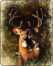 Queen Sz Shadow Beast Deer Buck White Tail Mink Faux Fur Super Soft Blanket Full