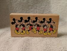 Classic Disney Rubber Stampede Stamp Marching Mickey Mouse Cartoon 421 F