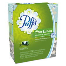 Puffs Plus Lotion Facial Tissue White 2-Ply 116/Box 3 Boxes/Pack 82086