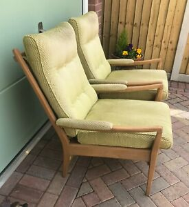 Pair of mid century Cintique arm chairs - (Ref 21.5.018)