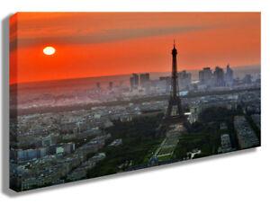 LEINWANDBILD WANDBILD PARIS EIFFELTURM SONNENUNTERGANG