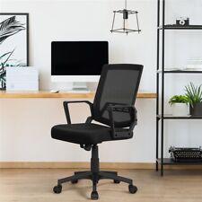Mesh Chair Ergonomic Executive Swivel Office Chair Mid Back Computer Desk Black