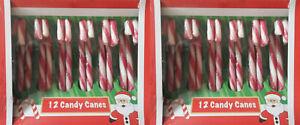 24 Stück Zuckerstangen Zuckerstange Candy Canes Bonbons essbar o. Weihnachtsdeko