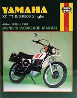1975-1983 Yamaha XT TT SR 500 XT500 TT500 SR500 HAYNES REPAIR MANUAL 342