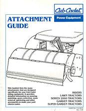 Cub Cadet 2000 Series Tractor Attachment Guide 1994