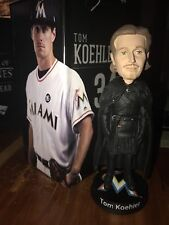 "MIAMI MARLINS 2017 TOM KOEHLER ""JON SNOW"" GAME OF THRONES"" BOBBLEHEAD SGA"