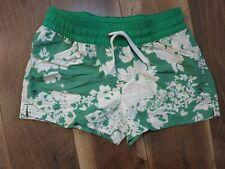 Patagonia 67080 Girl's Green/White Floral Baggies Shorts Sz L 12