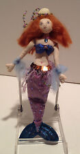 Handcrafted Soft Sculpture 9 in Mermaid with Purple Attire