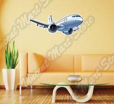 "Plane Airplane Jet Aircraft Pilot  Wall Sticker Room Interior Decor 25""X14"""