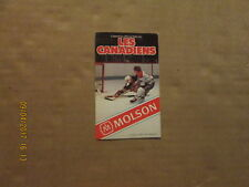 NHL Les Canadiens Vintage Circa 1982-83 Hockey Logo Pocket Schedule