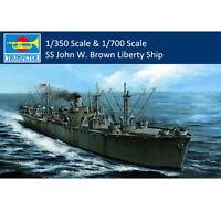 Trumpeter 05308 05756 1:350/1:700 Scale SS John W. Brown Liberty Ship Model Kits