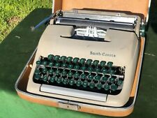 Vintage Smith Corona Clipper Portable Typewriter 'Green Keys' w/Case Excellent!