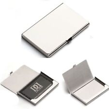 Business Name Credit ID Card Holder Box Metal Stainless Steel Pocket Box Case B7