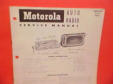 1953 DESOTO FIREDOME POWERMASTER MOTOROLA RADIO SERVICE SHOP MANUAL BROCHURE 53