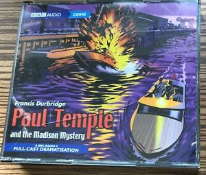 AUDIO BOOK Francis Durbridge PAUL TEMPLE and the MADISON MYSTERY on 4 x CDs