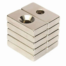 Super Strong Block Magnets 20x10x4mm 4mm Hole Rare Earth Neodymium For DIY New