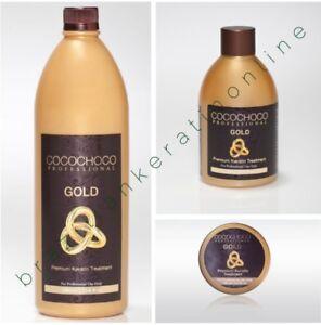 COCOCHOCO GOLD BRAZILIAN KERATIN TREATMENT BLOW DRY HAIR STRAIGHTENING MULTI KIT