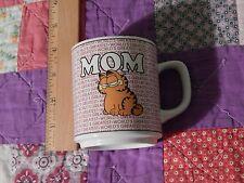 Garfield by Jim Davis (1978, Enesco) World's Greatest Mom (Coffee Mug) Vtg. Ltd.