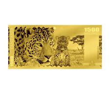 2018 Tanzania Big 5 - Leopard Foil Note Gold Sh1,500 Coin GEM Prooflike SKU51823