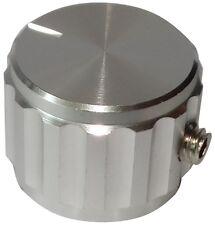 Bouton de potentiomètre pour axe lisse 6.35mm Ø20x15mm aluminium Couleur: argent