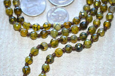 Green Agate Onyx Dragon Vein Hand Knotted 6mm 108+1 Yoga Mala Beads Necklace