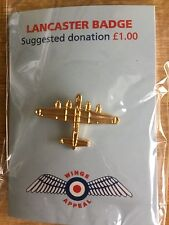 RAF-LANCASTER Badge/Pin-Brand New--All proceeds to Charity