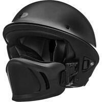 Bell Rogue Cruiser Motorcycle Helmet with Muzzle Flat Matte Black Medium NEW