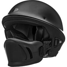 Bell Rogue Cruiser Motorcycle Helmet with Muzzle Flat Matte Black Medium NEW