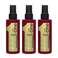 3 PCS Uniq One All In One Revlon Hair Treatment 150ml x3= 450ml Damaged #8481_3