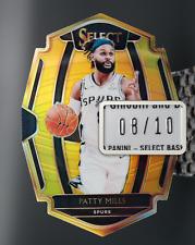 2018-19 Patty Mills #/10 Gold Premier Level Prizm Select Die-Cut Spurs