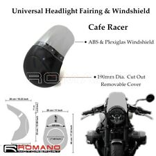 "Universal 7"" Front Headlight Cover Fairing With Screen Windshield For Cafe Racer"