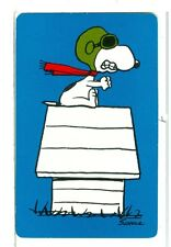"Single Playing Card Peanuts, Snoopy ""The Ace"" Hallmark 100B Blue"