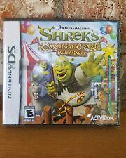 Nintendo DS Shrek's Carnival Craze Party Game Factory Sealed