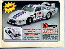 Burago -- Martini Porsche 935 TT - 1:24 -- publicidad de 1979 --