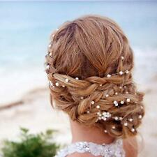 Women Party Wedding Hair Bride Headband Pearls Starry Hair Band Accessories SSUS