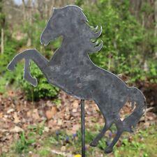 Metal-Horse-Garden-Stake- Steel-Gardening-Decor-Anim al-Yard-Art-Marker